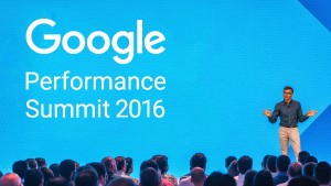CEO's presentation of google in Google Performance Summit 2016